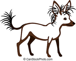 Chinese Crested - vector illustration of a chinese crested...
