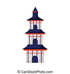 chinese culture castle tower icon