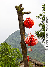 Chinese decoration in a rural area