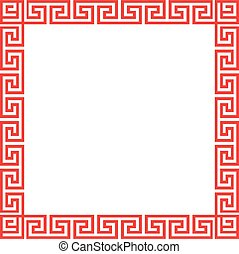 Chinese decorative square frame