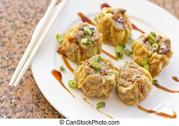 Chinese Dim Sum Dumplings - Delicious Chinese Dim Sum...