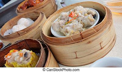 Chinese dim sum food