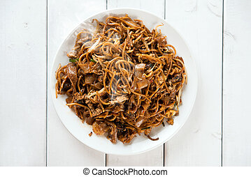 Chinese dish Char Kuey Teow - Asian dish stir fried char...
