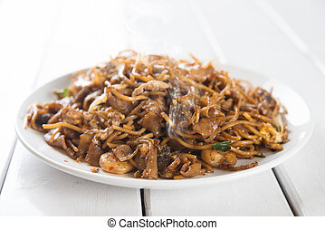 Chinese dish stir fried Char Kuey Teow