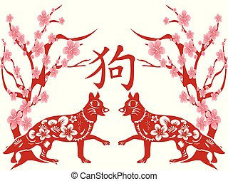 chinese dog year background