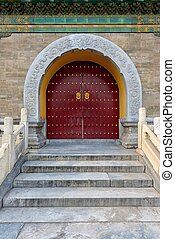 Chinese doorway at the Temple of Heaven