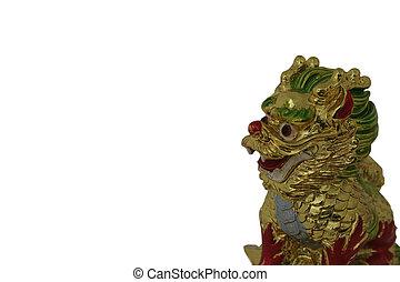 chinese draak, hars, werpen, -, symbool, voor, jaar van de draak