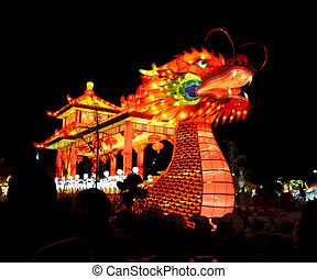 Chinese Dragon Boat lantern