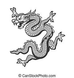 Chinese dragon, China New Year zodiac symbol