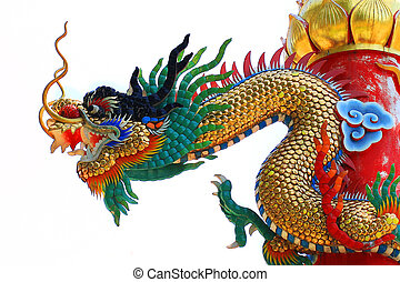Chinese dragon isolate on white
