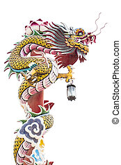 Chinese dragon on the red pole
