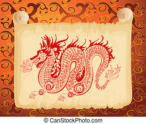 Chinese dragon pattern