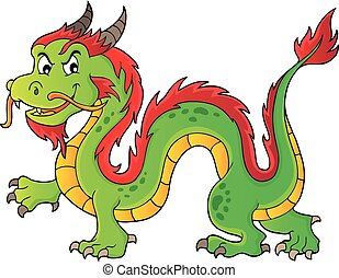 Chinese dragon theme image 1