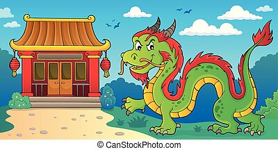 Chinese dragon theme image 2