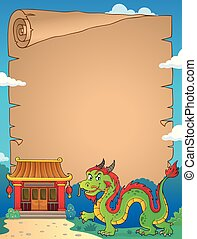 Chinese dragon theme parchment 2