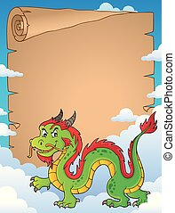 Chinese dragon theme parchment 5