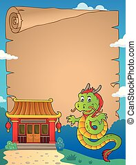 Chinese dragon topic parchment 2