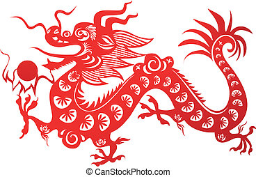 Chinese dragon - Traditional Chinese dragon. Symbol of the...