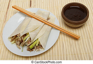 Chinese duck pancakes