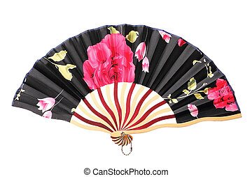 Chinese fan on white