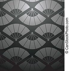 Chinese fan pattern
