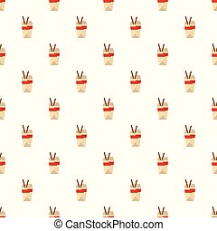 Chinese fast food pattern seamless