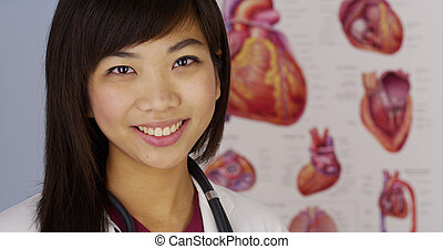 Chinese female cardiologist