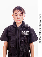 Chinese female police officer