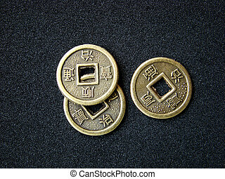 Chinese feng shui coins for good fortune and success....