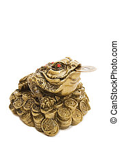 Chinese Feng Shui Frog with coins