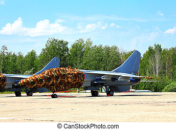 Chinese fighter on the parking lot - Chinese fighter jet...