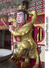 Chinese figure at shrine