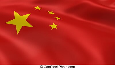 Chinese flag in the wind. Part of a series.