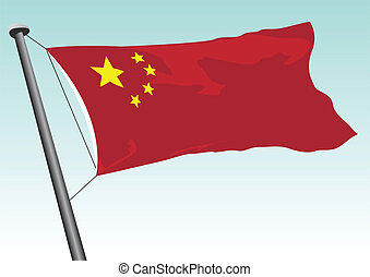 Chinese flag - vector flag of China