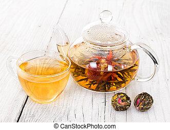 Chinese flowering tea