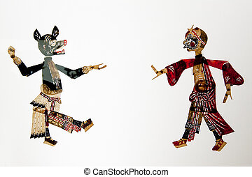 Chinese folk theater art, shadow