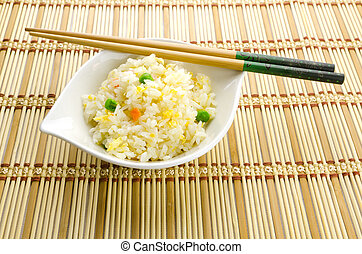 Chinese food, cantonese rice - Yangzhou rice, traditional...