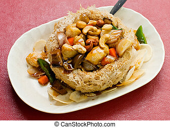 chinese food chicken and vegetable
