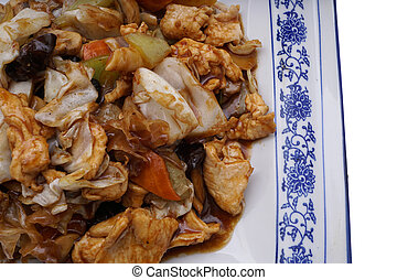Chinese food. Chicken with vegetables