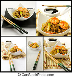Chinese food composition - Photo composition with some ...