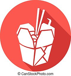 chinese food flat icon