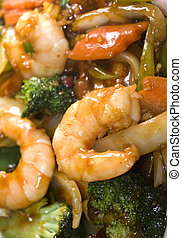 chinese food jumbo shrimp mixed vegetables
