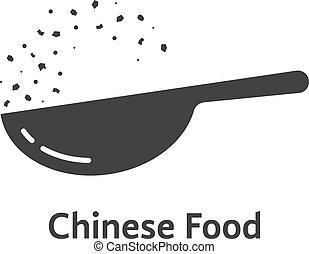 chinese food logo with black wok