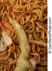 Chinese food. Noodles with vegetables