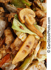 Chinese food. Pork with vegetables