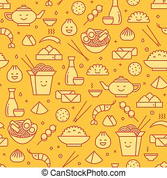 Chinese food seamless pattern