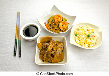 Chinese food, some plate - Chinese food dishesm cantonese...