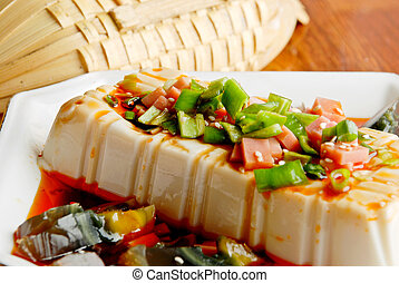 Chinese food- tofu and preserved eggs - Tofu with preserved...
