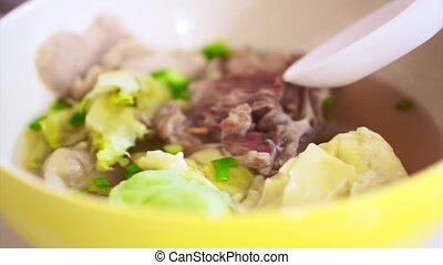 Chinese food, wonton dumpling