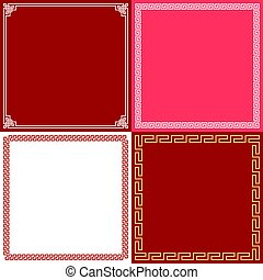 Chinese frame in various style, flat design